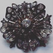 Silver pin set with diamonds Circa 1870