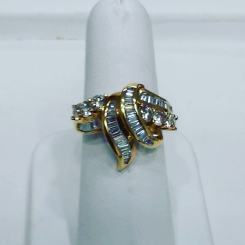 18Kt yellow gold set with diamonds,circa 1960