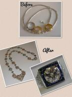 Necklace and ring recreated from estate jewelry
